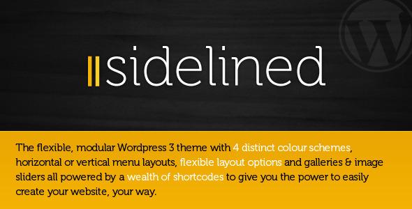 Sidelined - a flexible, modular Wordpress 3 theme