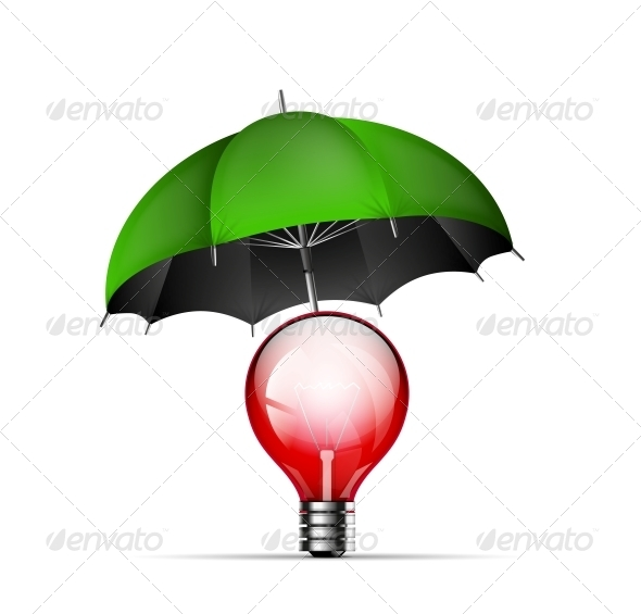 Creative New Idea Protection Concept - Backgrounds Decorative