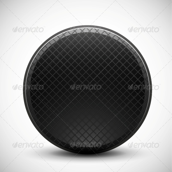 Dark Circle Made of Metal Grid Design - Miscellaneous Conceptual