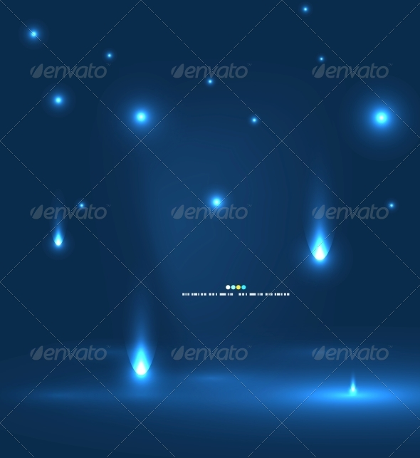 Abstract Flying Lights - Backgrounds Decorative