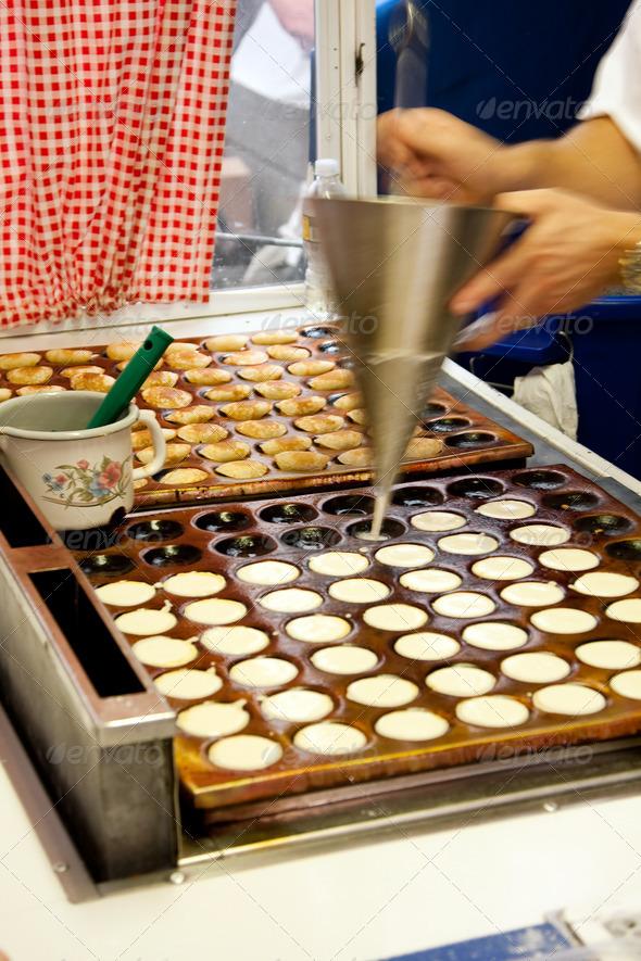 Poffertjes mini pancakes - Stock Photo - Images