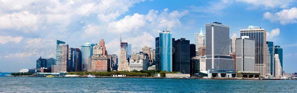 New York City Skyline panorama - Stock Photo - Images