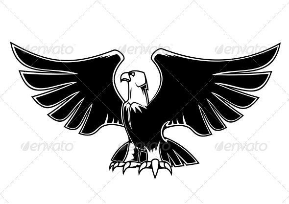 Majestic Eagle with Open Wings - Animals Characters