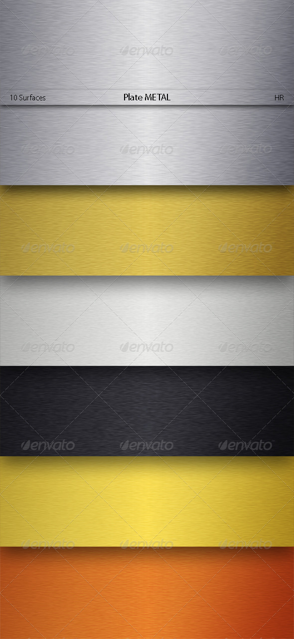 Plate Metal Texture Backgrounds - Metal Textures