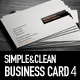 Simple and Clean Business Card 4 - GraphicRiver Item for Sale