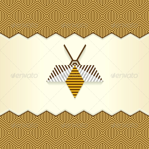 Abstract Geometrical Bee - Animals Characters