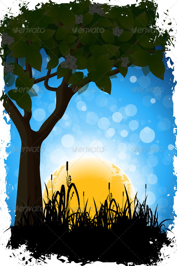 Grungy Nature Background - Landscapes Nature