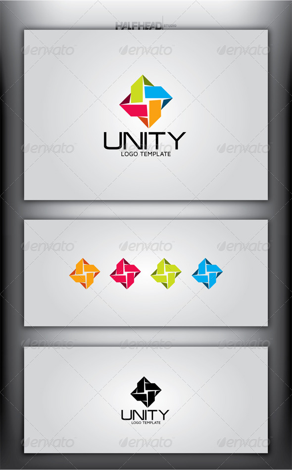 Unity Logo Template by HALFHEADStudio | GraphicRiver