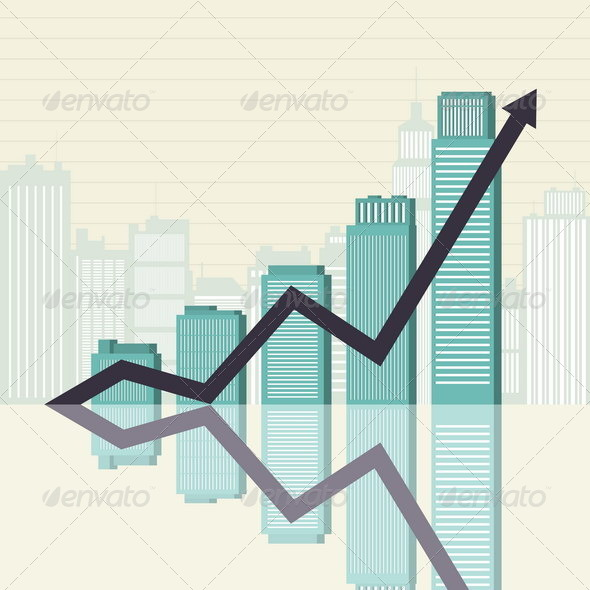 Business Success Towers Graphic - Concepts Business