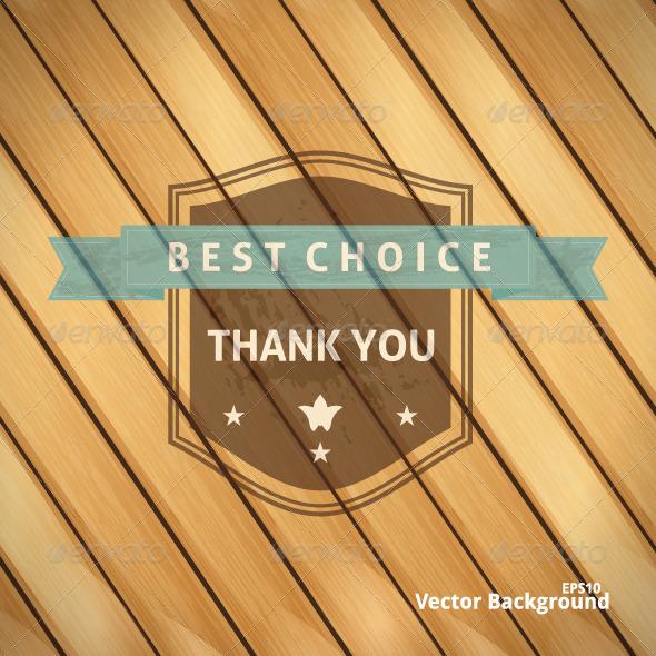 Best Choice Grunge Banner on Wooden Backdrop - Decorative Symbols Decorative