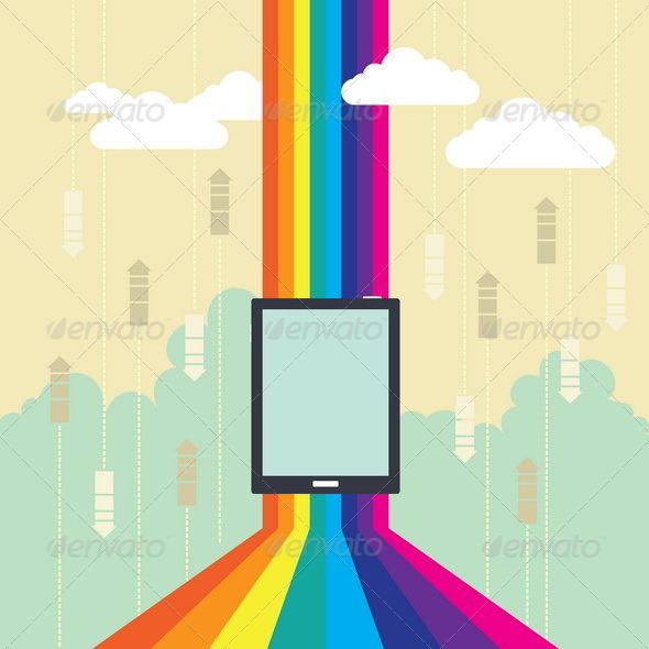 Colorful Wireless Technology - Web Technology