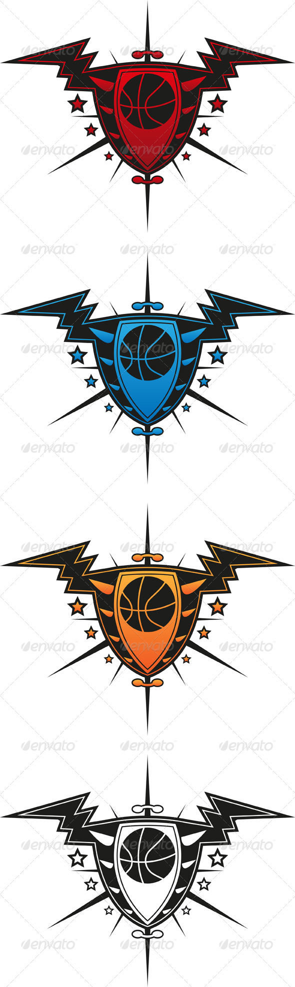 Basketball Emblem - Sports/Activity Conceptual