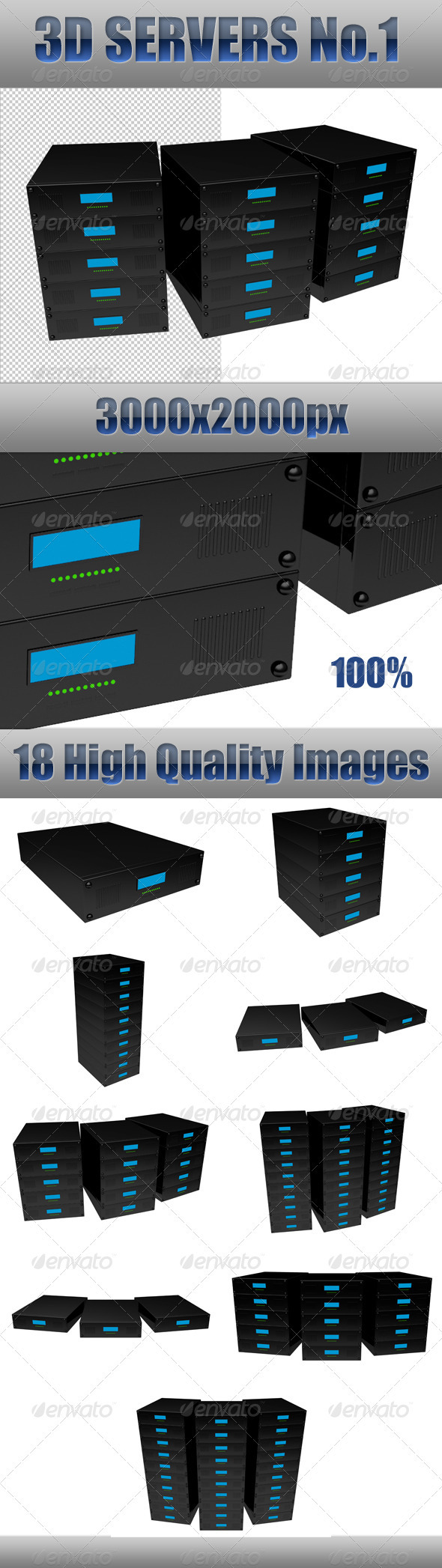 3D Servers No. 1 - 3D Renders Graphics