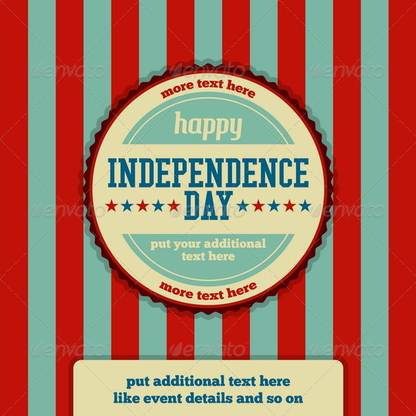 Independence Day Event Stamp Background - Miscellaneous Seasons/Holidays