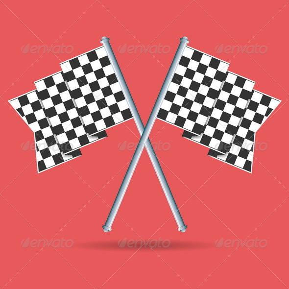 Race Flags - Decorative Symbols Decorative