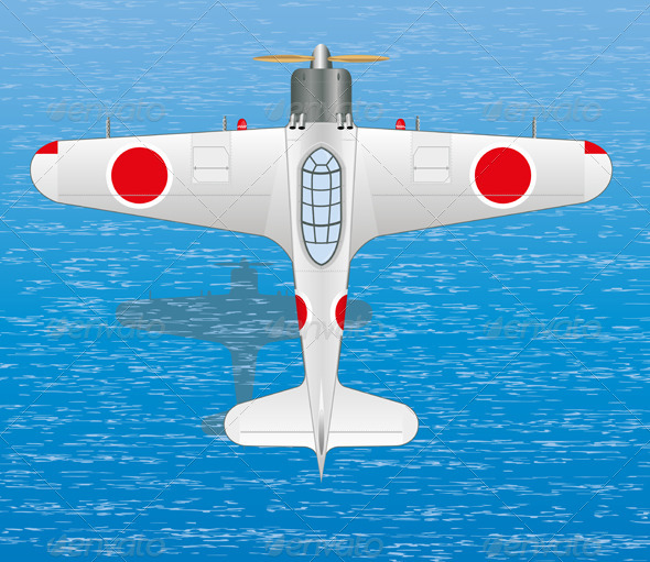 Mitsubishi A6M Zero - Man-made Objects Objects
