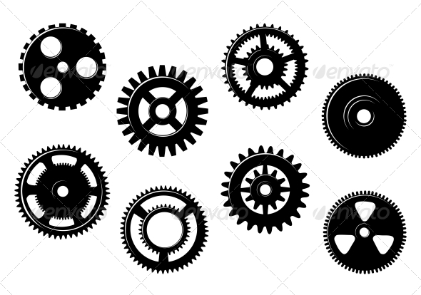 Set of Gears and Pinions - Man-made Objects Objects