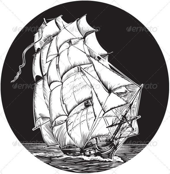 Old Sail Ship - Travel Conceptual