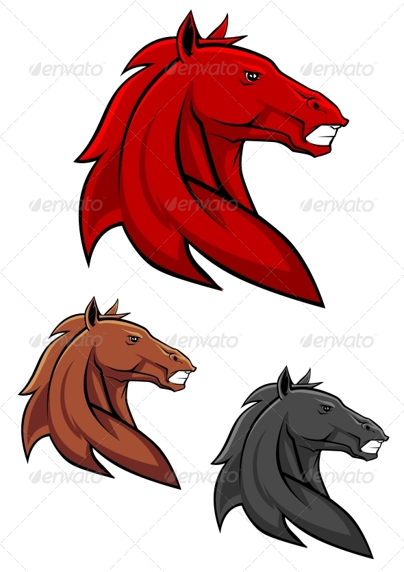 Powerful Stallion - Animals Characters