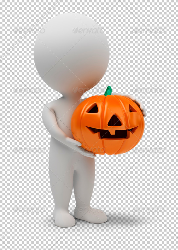 3d small people - Halloween - Characters 3D Renders