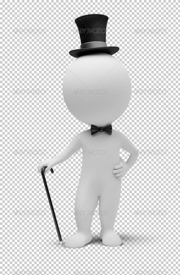 3d small people - gentleman - Characters 3D Renders
