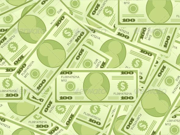 Dollar Banknotes Background - Backgrounds Business