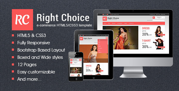 Right Choice – HTML5 & CSS3 E-Commerce Template