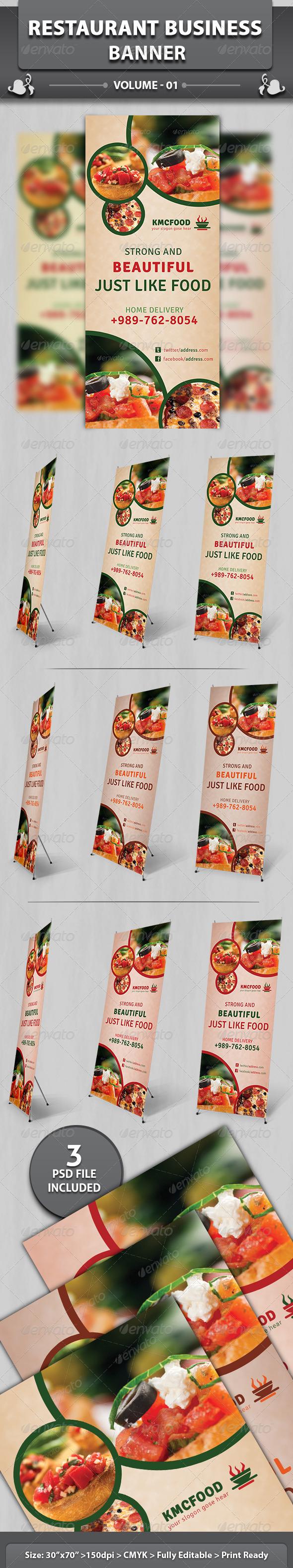 Restaurant Business Banner   Volume 14 - Signage Print Templates