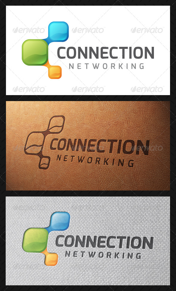 Connection Logo Template - Vector Abstract