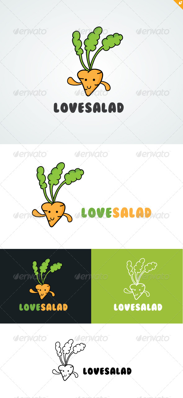 Love Salad Logo - Food Logo Templates