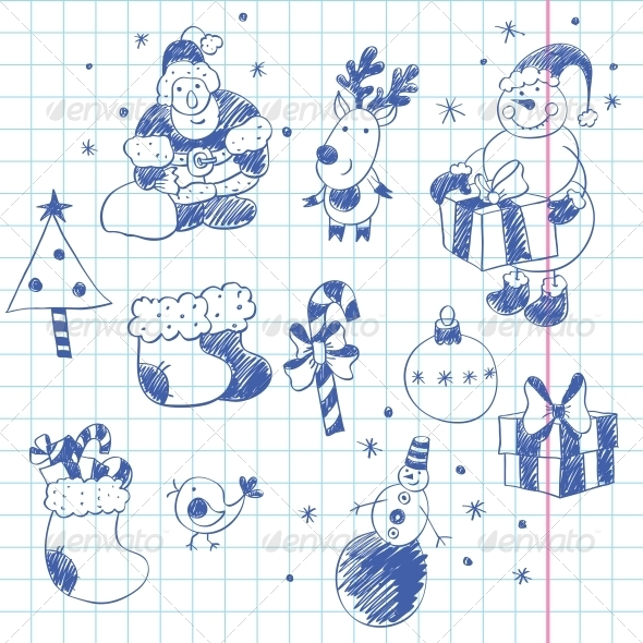 Cute Christmas Doodles - Christmas Seasons/Holidays