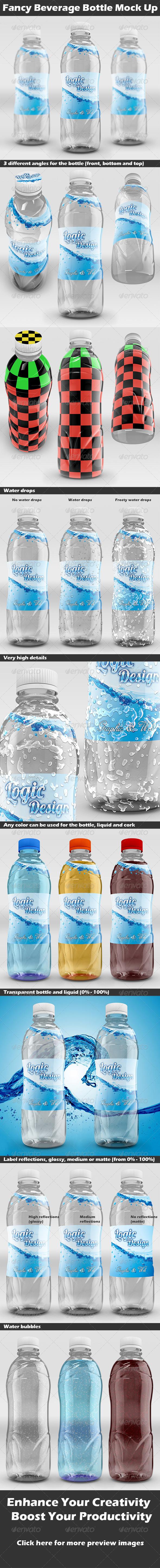Fancy Beverage Bottle Mock Up - Food and Drink Packaging