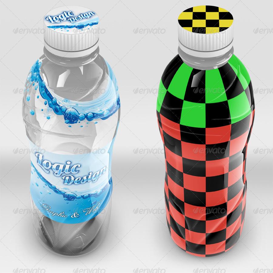 Fancy Beverage Bottle Mock Up by Logic_Design | GraphicRiver