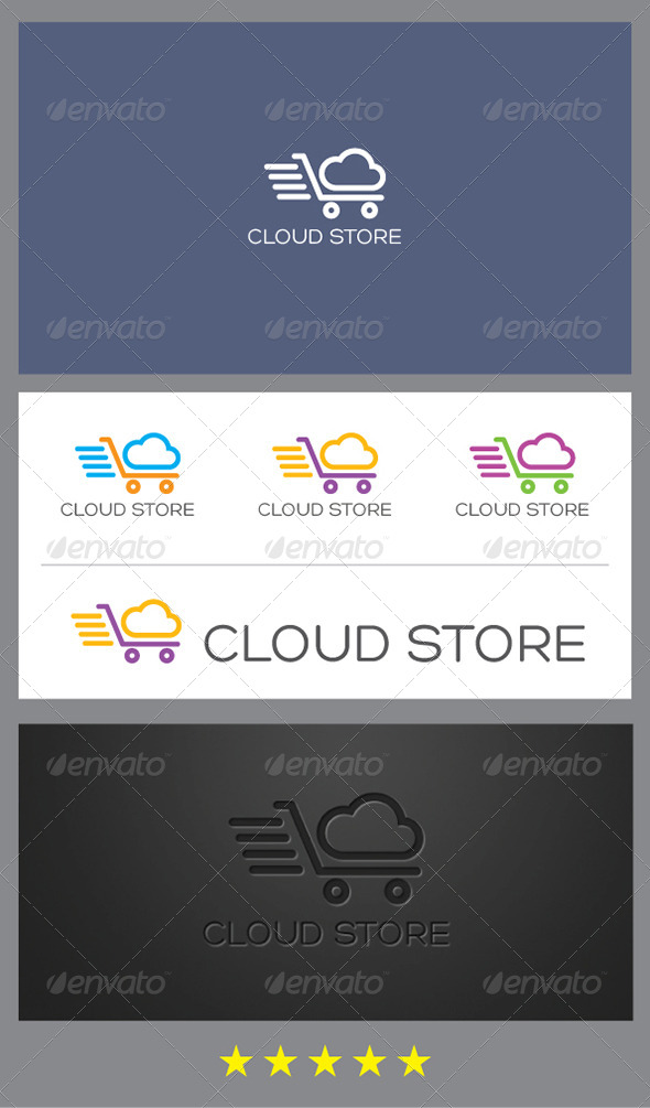 Cloud Store Logo Template - Nature Logo Templates