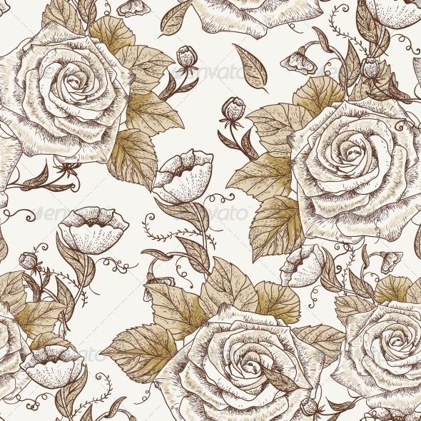 Vintage Seamless Pattern - Backgrounds Decorative