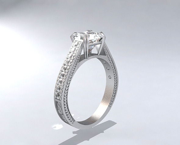 Re-Review Platinum Diamond Ring - 3DOcean Item for Sale