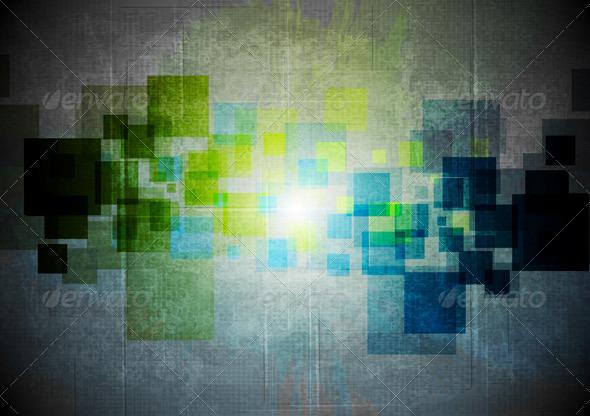 Abstract Grunge Hi-tech Design - Backgrounds Decorative
