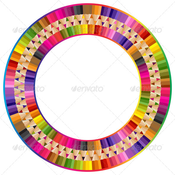 Round Frame - Borders Decorative