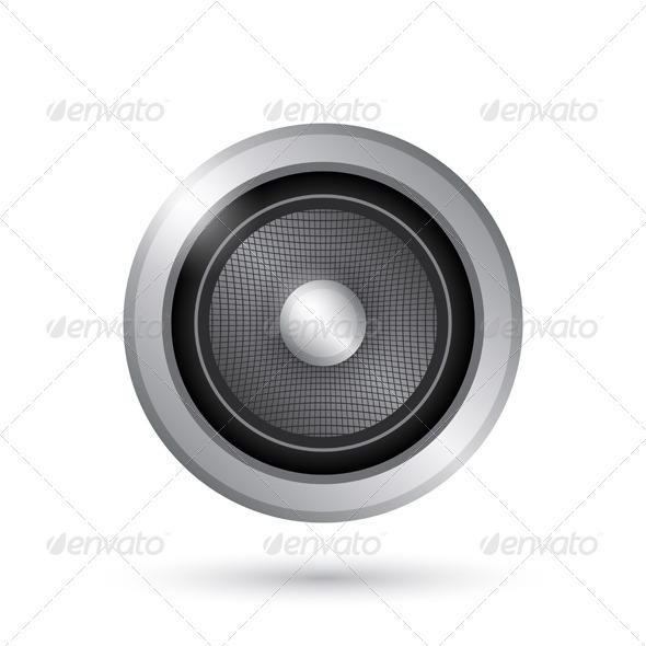 Audio Speaker Icon - Web Elements Vectors