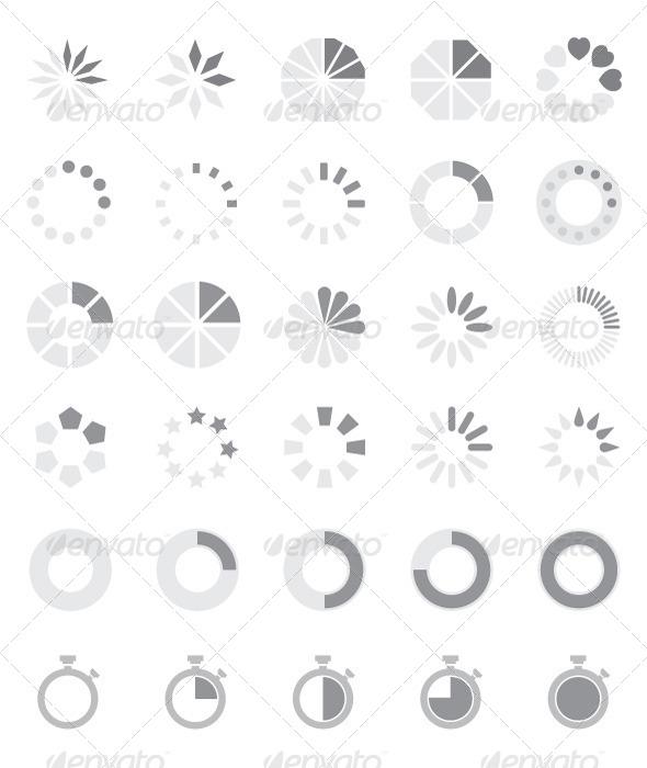Preloader Vector set - Miscellaneous Web Elements