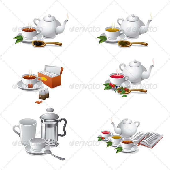 Tea Set Icons - Icons