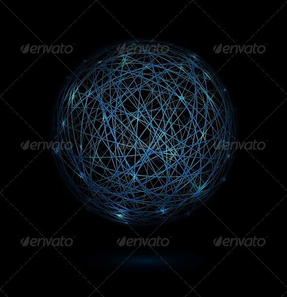 Sphere of Lines - Web Elements Vectors
