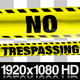 Yellow No Trespassing Boundry Tape - 5 Videos - VideoHive Item for Sale