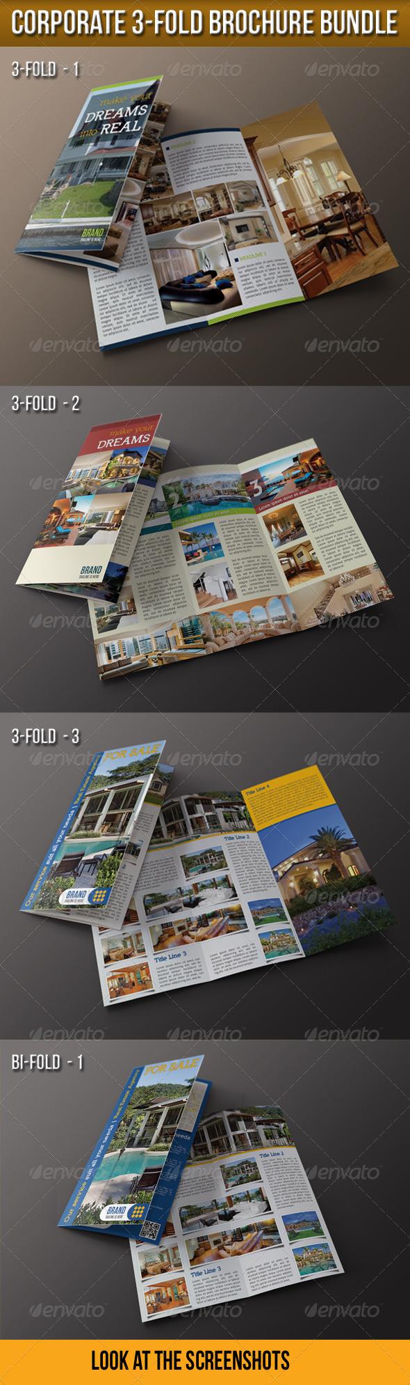Corporate 3-Fold Brochure Bundle - Corporate Brochures