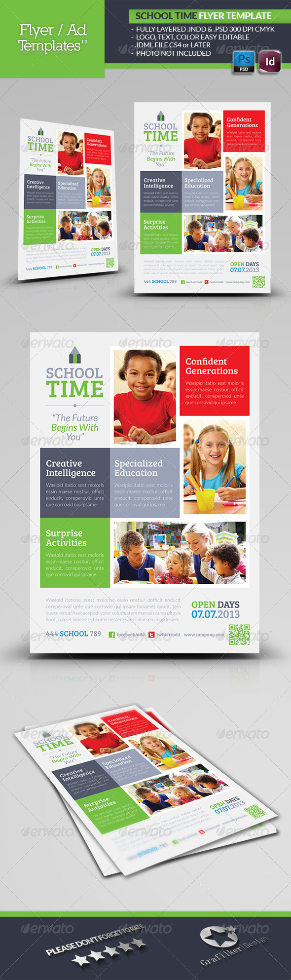 School Time Flyer Template - Corporate Flyers