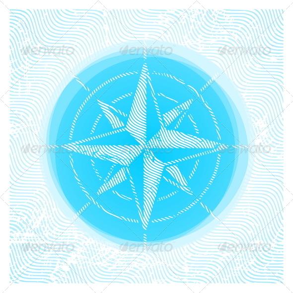 Vector Compass Rose - Travel Conceptual