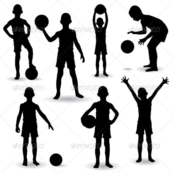 Boy Silhouettes - People Characters
