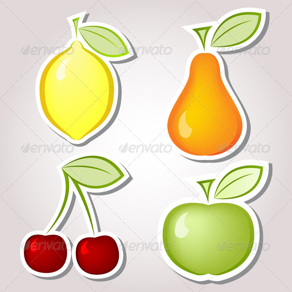 Fruits Labels - Food Objects