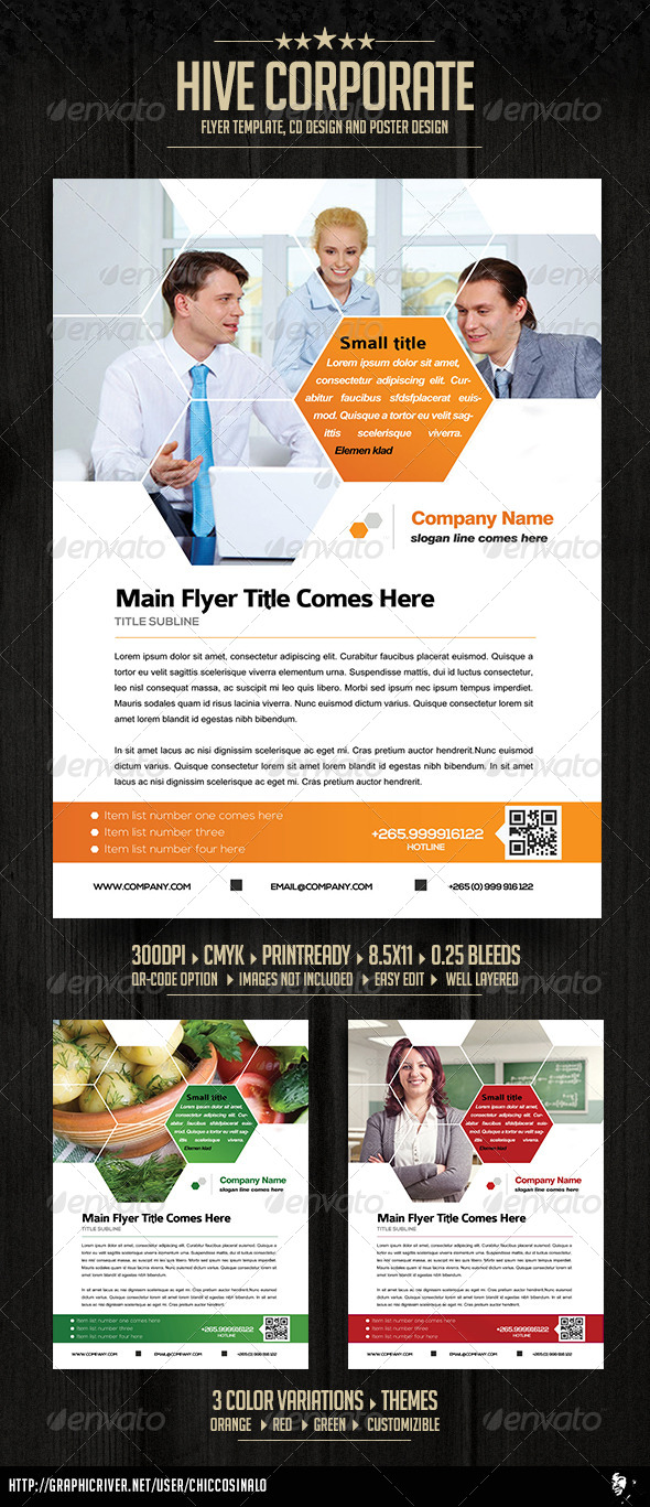 Hive Corporate Flyer Ad Template - Corporate Flyers
