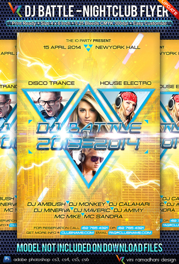 DJ Battle NewYork NightClub Flyer - Clubs & Parties Events